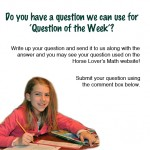 Horse question of the week
