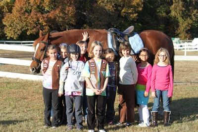 Girl Scouts & horse