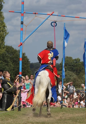 Jousting at Hever Castle, Kent, England