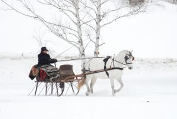 A one horse open sleigh