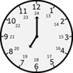 7 am 24 hr clock