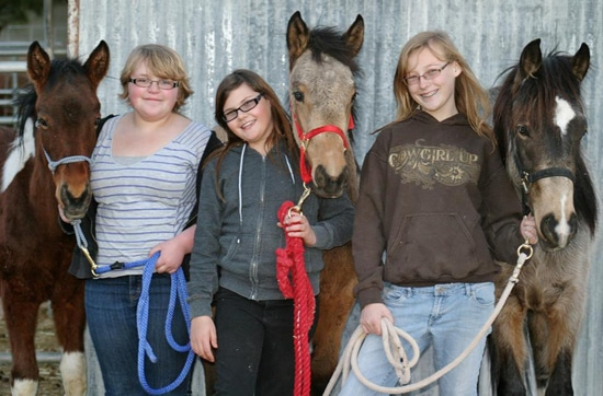 From left to right: Mikey & Emma Woyak, Gabby Beck & Ikey, Robin Warren & Rocky. Proud members of YEA.