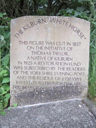 Kilburn White Horse sign