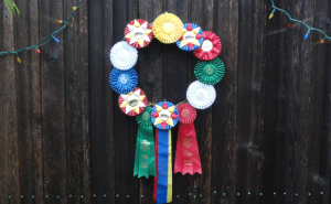horse how ribbon wreath