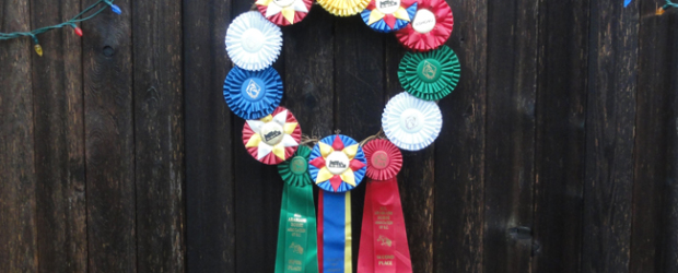 horse how ribbon wreath