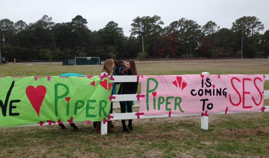Welcome Piper sign