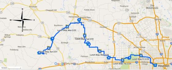 Salt Grass Trail Ride map