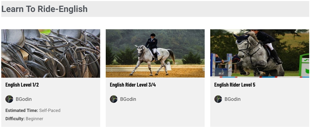 equestrian online learning