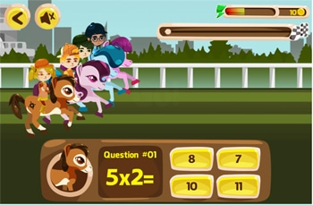 horse-themed times tables game
